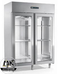 Armadio frigo doppia porta in vetro Afinox Mekano Green